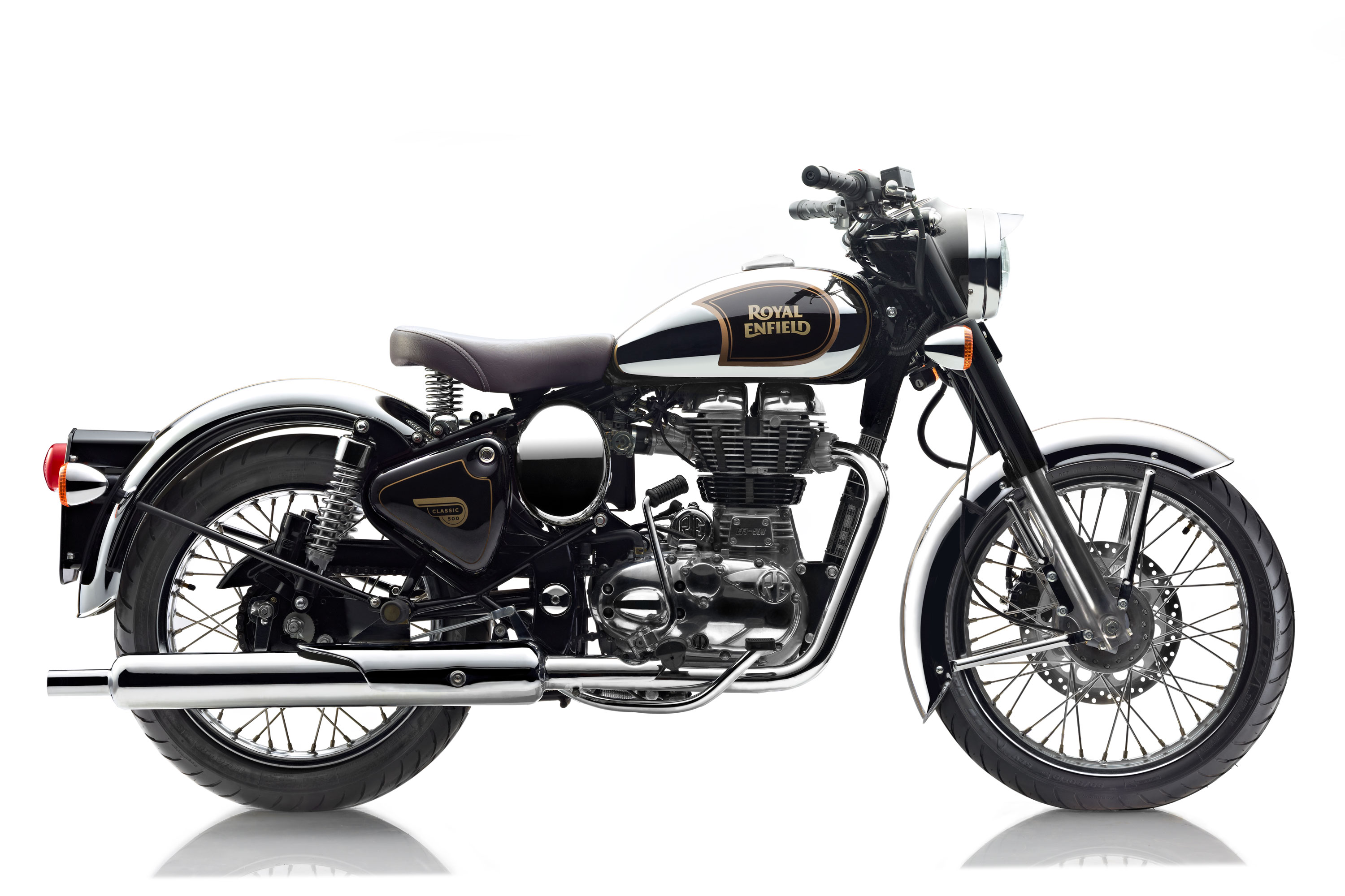 Royal Enfield World Motorrad Retro Classic 500 Chrome schwarz