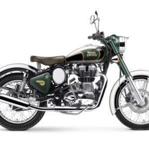 Royal Enfield World Motorrad Chrome EFI 500 Gruen Motorrad