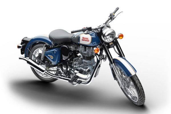 Royal Enfield World Motorrad Classic 500 EFI Motorrad Blau Blue