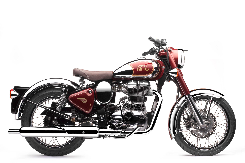 Royal Enfield World Motorrad Classic Chrome EFI 500 Motorrad rot Bordeaux